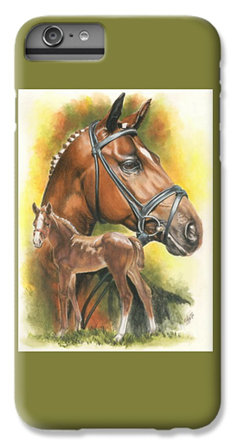 Jumper Hunter IPhone 6 Plus Case featuring the mixed media Trakehner by Barbara Keith