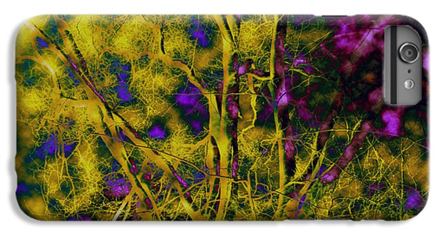 Abstract IPhone 6 Plus Case featuring the photograph Tree Glow by Linda Sannuti