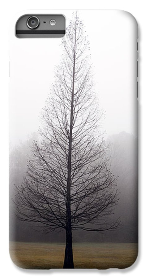 Scenic IPhone 6 Plus Case featuring the photograph Tree In Fog by Ayesha Lakes