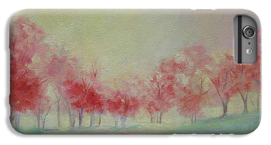 Impressionist Trees IPhone 6 Plus Case featuring the painting Treeline by Ginger Concepcion