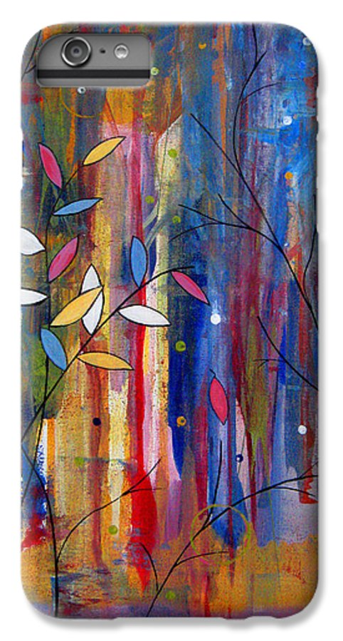 Abstract IPhone 6 Plus Case featuring the painting Tres Jolie by Ruth Palmer