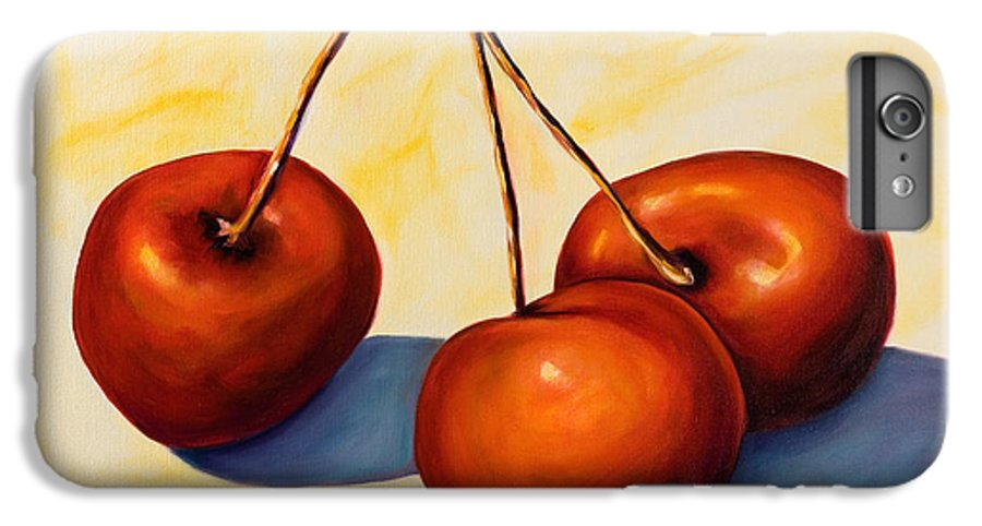 Cherries IPhone 6 Plus Case featuring the painting Trilogy by Shannon Grissom