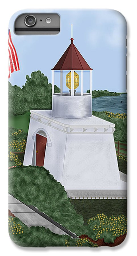 Trinidad Memorial IPhone 6 Plus Case featuring the painting Trinidad Memorial Lighthouse by Anne Norskog