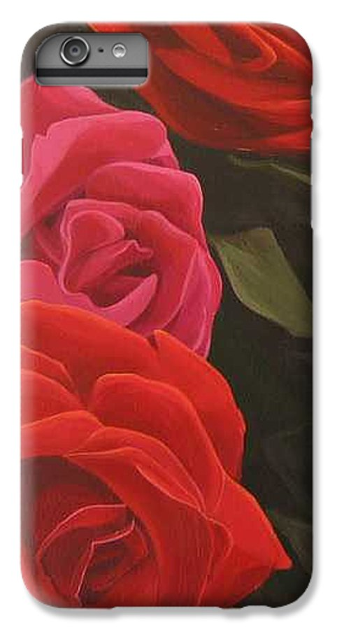 Roses In Italy IPhone 6 Plus Case featuring the painting Trio by Hunter Jay