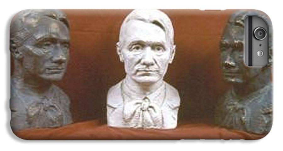 IPhone 6 Plus Case featuring the sculpture Trio Portrait Of Rudolf Steiner by David Dozier