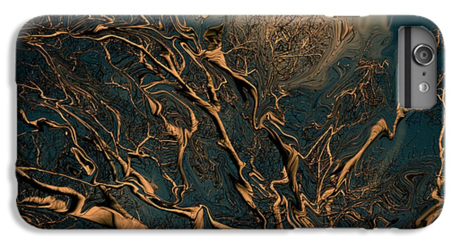 Trees Nature Abstract Digital Painting IPhone 6 Plus Case featuring the photograph Trippy Tree by Linda Sannuti