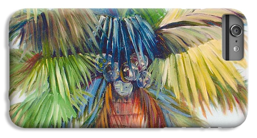 Palm IPhone 6 Plus Case featuring the painting Tropical Palm Inn by Susan Kubes
