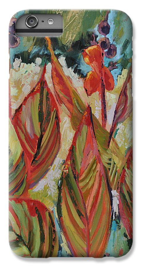 Tropicana IPhone 6 Plus Case featuring the painting Tropicana by Ginger Concepcion