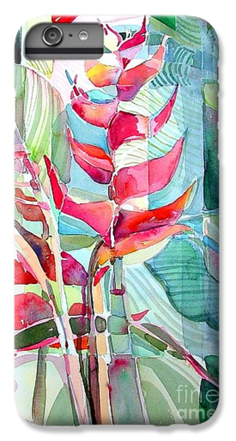 Landscape IPhone 6 Plus Case featuring the painting Tropicana Red by Mindy Newman