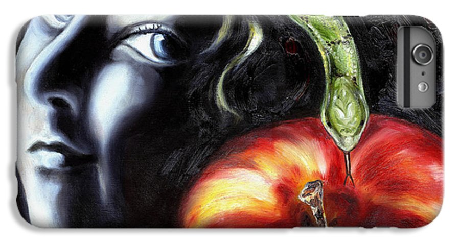 Adam And Eve IPhone 6 Plus Case featuring the painting Trouble Makers by Hiroko Sakai