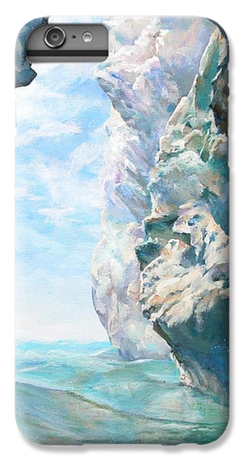 Landscape Paintings IPhone 6 Plus Case featuring the painting Trouee 2 by Muriel Dolemieux