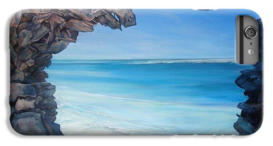 Landscape IPhone 6 Plus Case featuring the painting Trouee 4 by Muriel Dolemieux