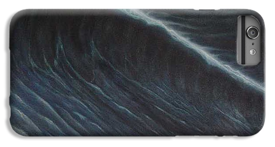 Seascapes IPhone 6 Plus Case featuring the painting Tsunami by Angel Ortiz