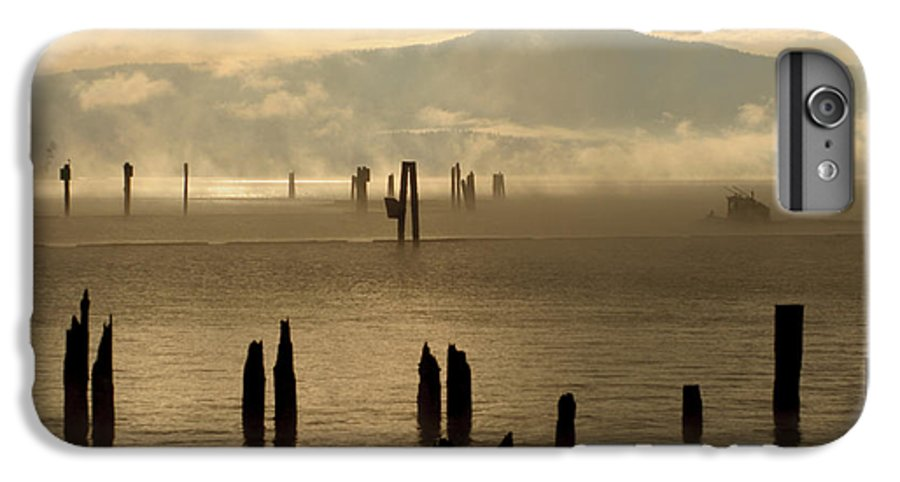 Tugboat IPhone 6 Plus Case featuring the photograph Tugboat In The Mist by Idaho Scenic Images Linda Lantzy