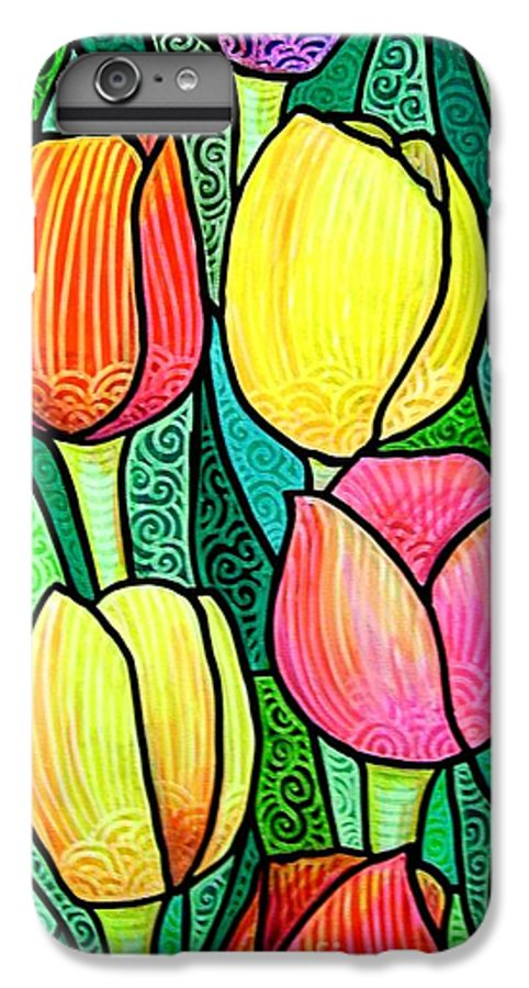 Tulips IPhone 6 Plus Case featuring the painting Tulip Expo by Jim Harris