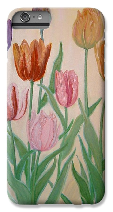 Flowers Of Spring IPhone 6 Plus Case featuring the painting Tulips by Ben Kiger