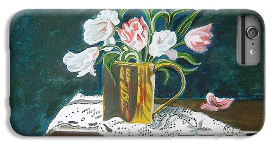 Tulips IPhone 6 Plus Case featuring the painting Tulips by Manjiri Kanvinde