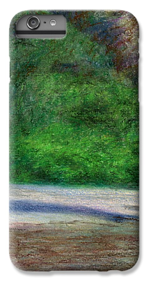 Rainbow Colors Pastel IPhone 6 Plus Case featuring the painting Tunnels Beach by Kenneth Grzesik
