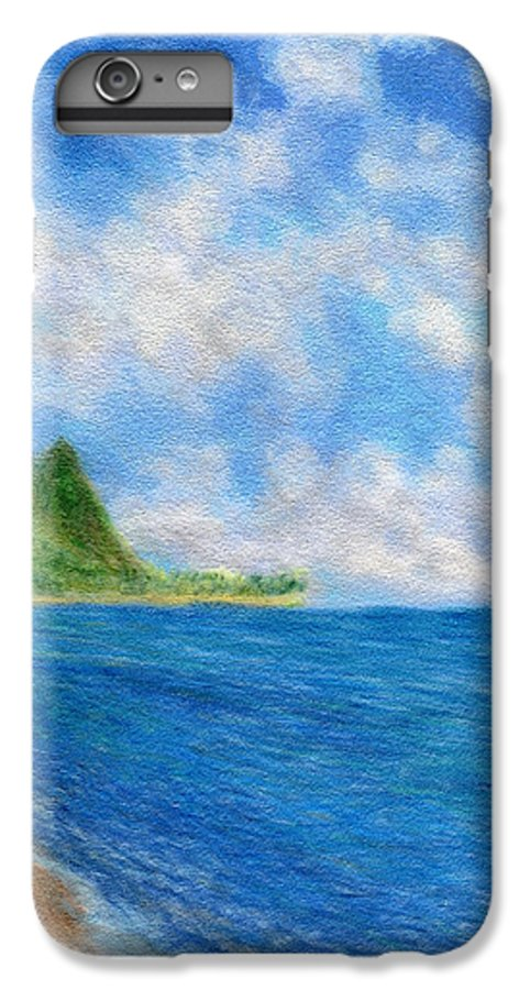 Rainbow Colors Pastel IPhone 6 Plus Case featuring the painting Tunnels Beach Sky by Kenneth Grzesik