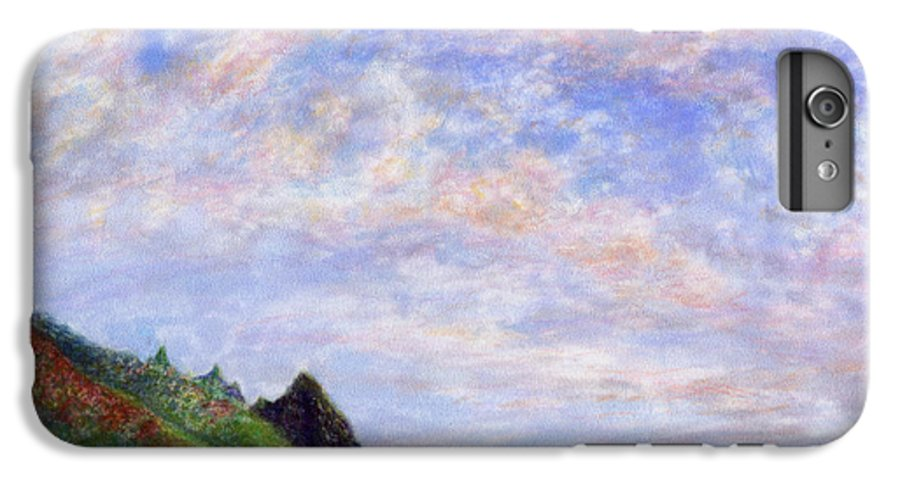 Rainbow Colors Pastel IPhone 6 Plus Case featuring the painting Tunnels Vision by Kenneth Grzesik
