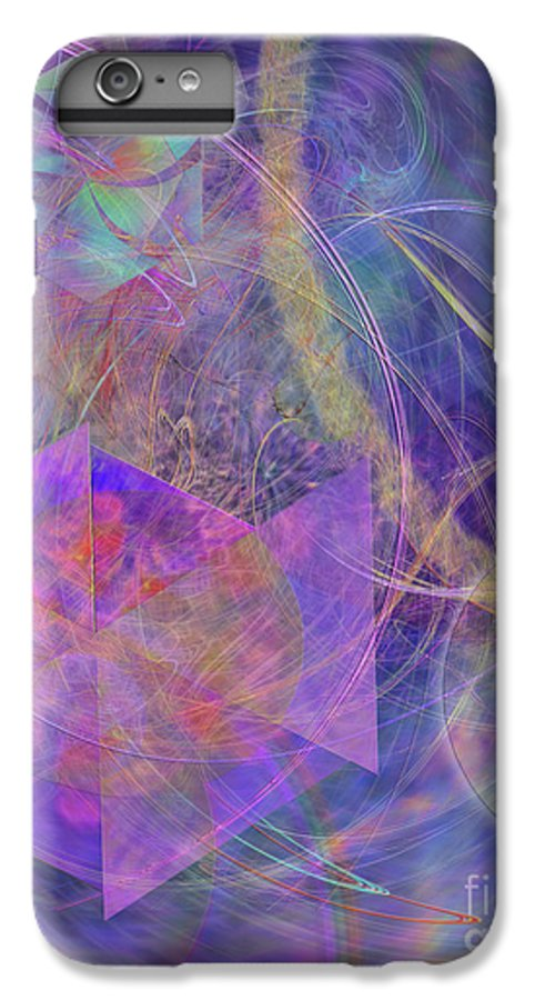 Turbo Blue IPhone 6 Plus Case featuring the digital art Turbo Blue by John Beck