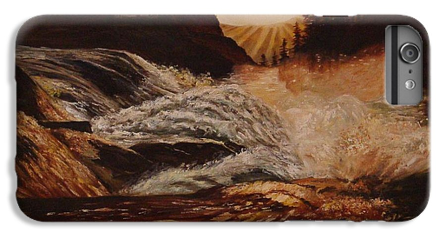 Water IPhone 6 Plus Case featuring the painting Turbulent Waters by Quwatha Valentine
