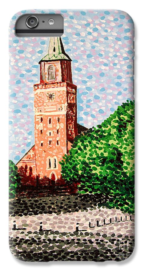 Finnish IPhone 6 Plus Case featuring the painting Turku Cathedral by Alan Hogan