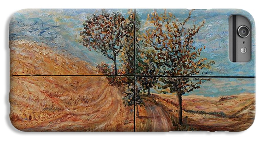 Landscape IPhone 6 Plus Case featuring the painting Tuscan Journey by Nadine Rippelmeyer