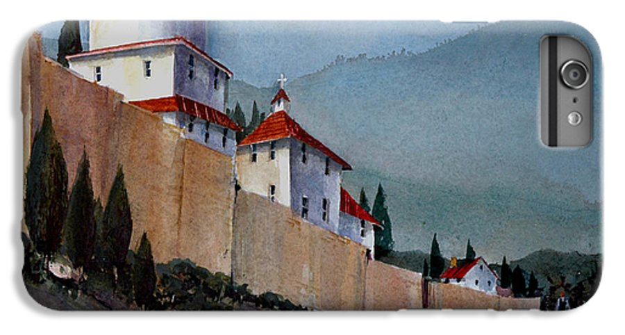 Tuscan IPhone 6 Plus Case featuring the painting Tuscan Lane by Charles Rowland