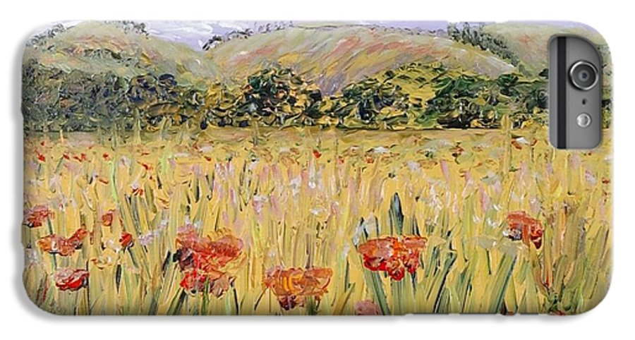 Poppies IPhone 6 Plus Case featuring the painting Tuscany Poppies by Nadine Rippelmeyer