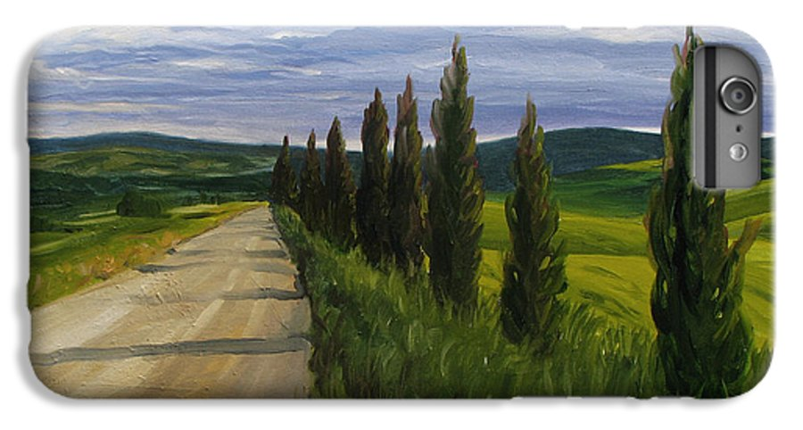 IPhone 6 Plus Case featuring the painting Tuscany Road by Jay Johnson