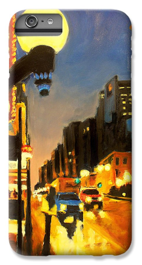 Rob Reeves IPhone 6 Plus Case featuring the painting Twilight In Chicago - The Watcher by Robert Reeves