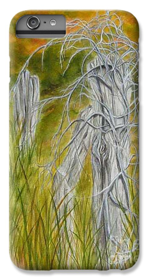 Landscape IPhone 6 Plus Case featuring the painting Twisted by Regan J Smith