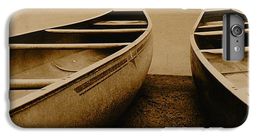 Canoes IPhone 6 Plus Case featuring the photograph Two Canoes by Jack Paolini