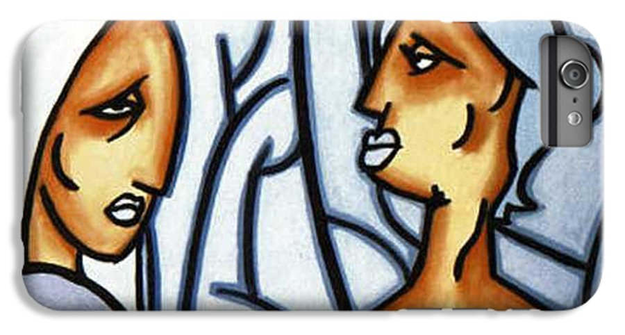 Portrait IPhone 6 Plus Case featuring the painting Two Ladies by Thomas Valentine