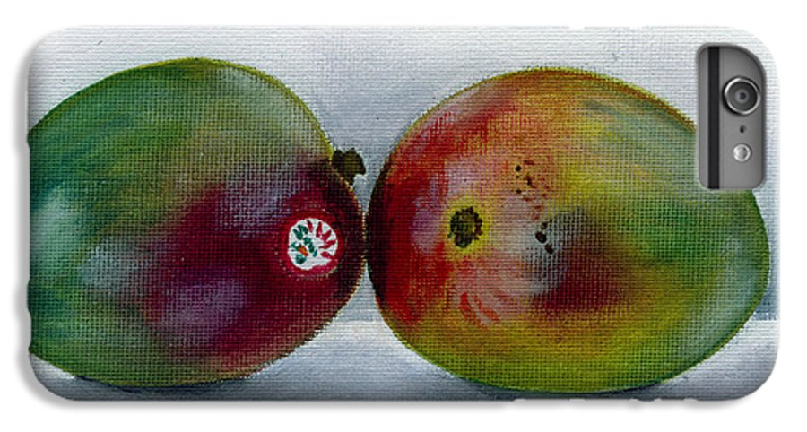 Still-life IPhone 6 Plus Case featuring the painting Two Mangoes by Sarah Lynch
