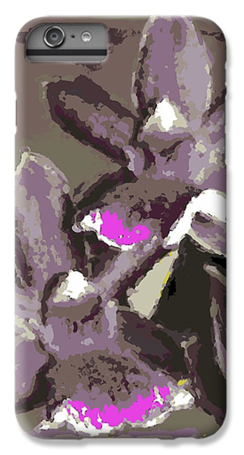 Orchid IPhone 6 Plus Case featuring the photograph Two Orchids by Ann Tracy