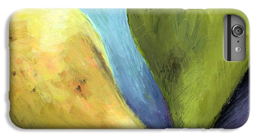 Pear IPhone 6 Plus Case featuring the painting Two Pears Still Life by Michelle Calkins