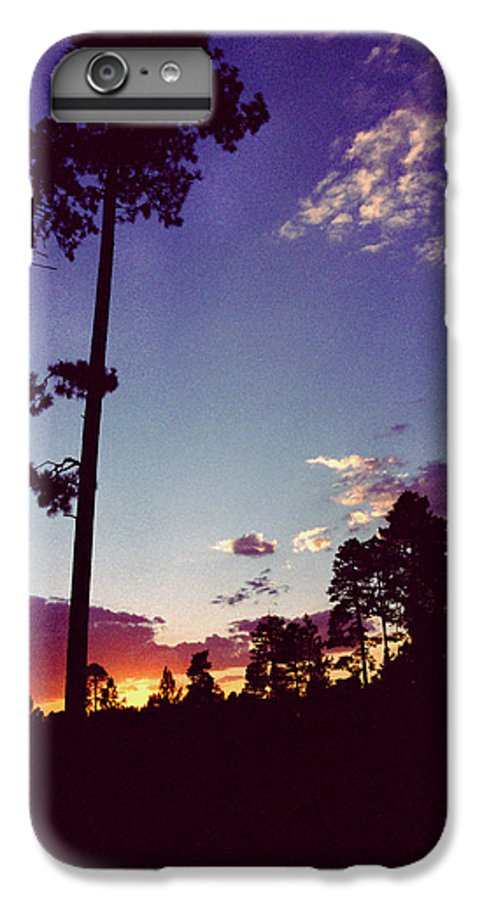 Arizona Sunset IPhone 6 Plus Case featuring the photograph Two Pines Sunset by Randy Oberg
