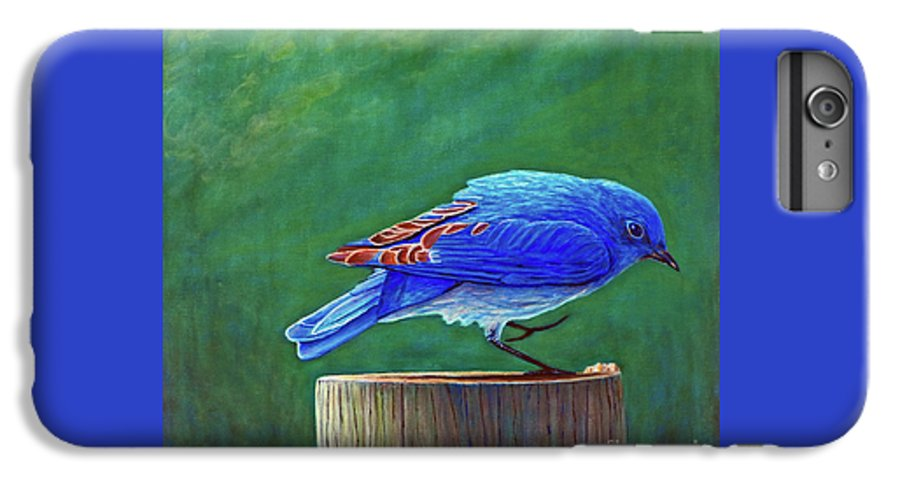 Bluebird IPhone 6 Plus Case featuring the painting Two Step by Brian Commerford