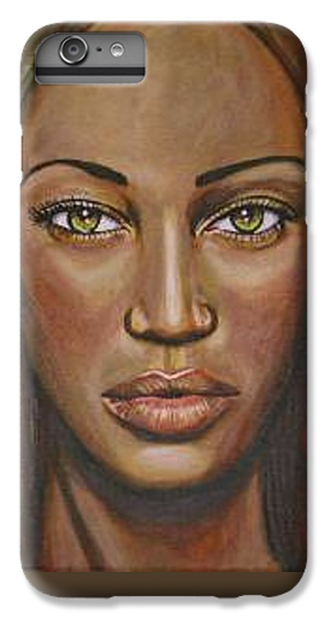 Woman IPhone 6 Plus Case featuring the painting Tyra by Sarah-Lynn Brown