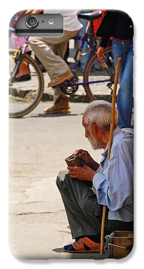 Beggar IPhone 6 Plus Case featuring the photograph Un Peso Por Favor by Skip Hunt