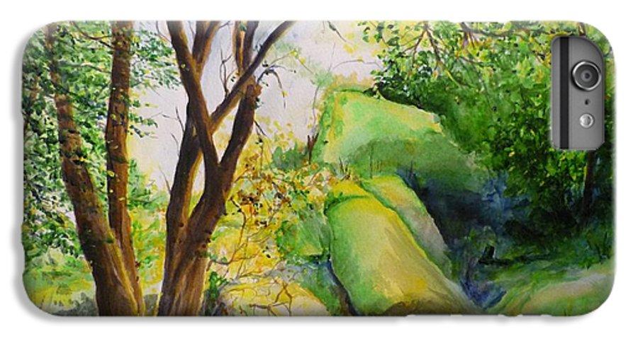 Wood IPhone 6 Plus Case featuring the painting Un Rincon En El Valle De Los Suenos by Lizzy Forrester