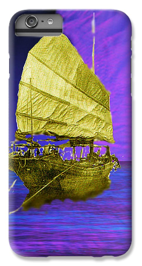 Nautical IPhone 6 Plus Case featuring the digital art Under Golden Sails by Seth Weaver