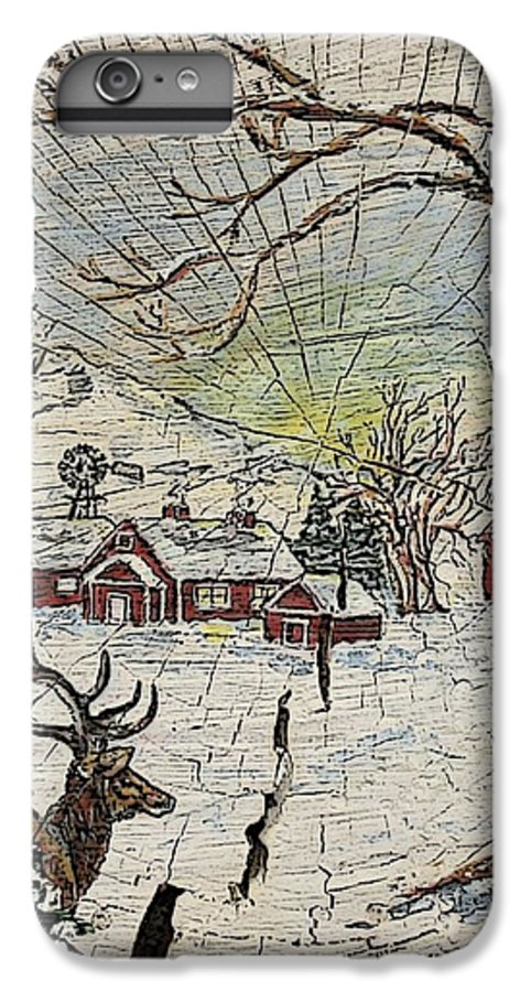 Elk IPhone 6 Plus Case featuring the painting Unexpected Guest IIi by Phyllis Mae Richardson Fisher
