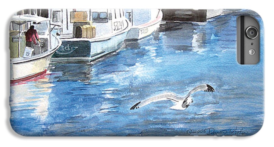 Seagull IPhone 6 Plus Case featuring the painting Union Wharf by Dominic White