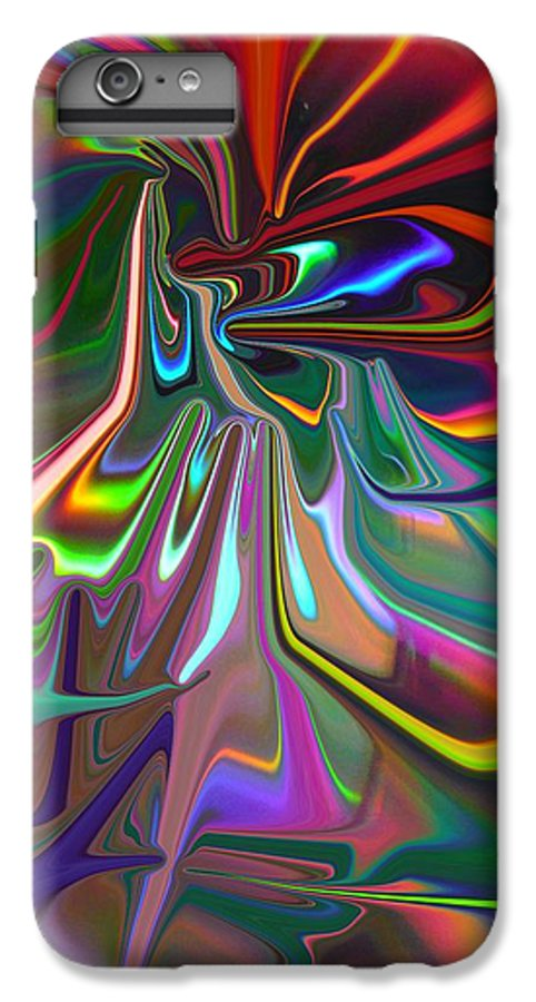 Red IPhone 6 Plus Case featuring the painting United As One by Florene Welebny