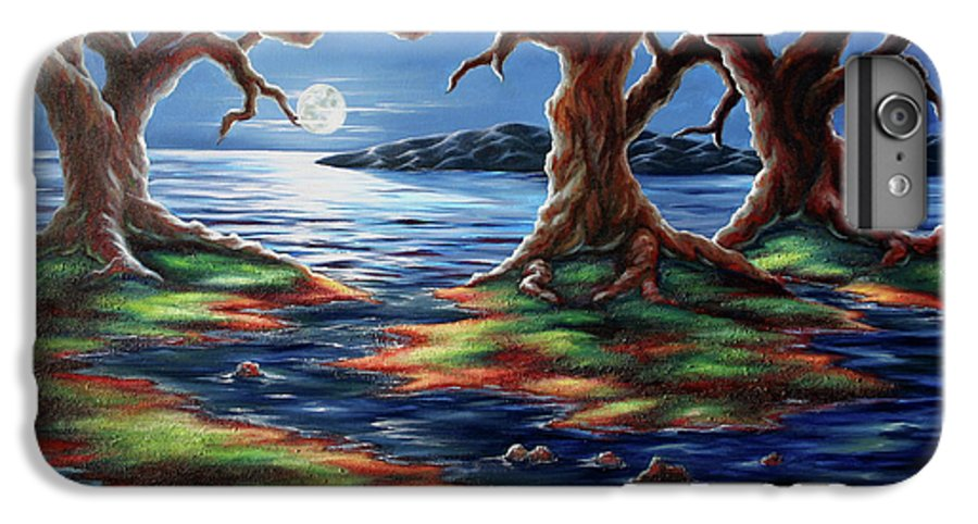 Textured Painting IPhone 6 Plus Case featuring the painting United Trees by Jennifer McDuffie