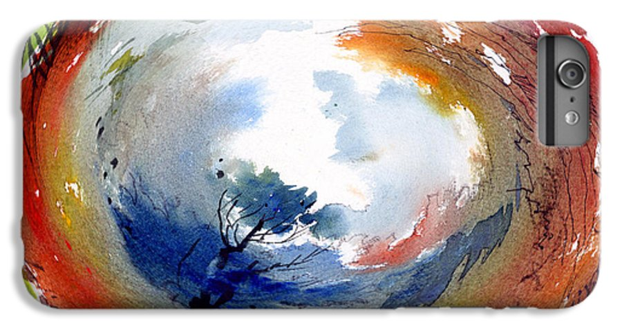 Landscape Water Color Watercolor Digital Mixed Media IPhone 6 Plus Case featuring the painting Universe by Anil Nene