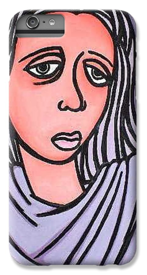 Portrait IPhone 6 Plus Case featuring the painting Unknown by Thomas Valentine